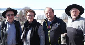 PRO Näs-Hackås-Sunne arrangerade ett välbesökt medlemsmöte. Här ser vi från vänster Lennart Borgebo, Gunilla Kristoffersson Wikberg, Mats Borgström och Bo Torstemo. Foto: Stig-Björn Sundell