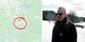 På tisdagsmorgonen började mullra kraftigt hemma hos Nils-Erik Jansson och det visade sig vara ett jordskalv med centrum bara några kilometer från hans hus i Laxtjärn.  Bilden är ett montage.