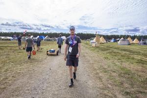 Lägerchef Alexander Hjertén har arbetat med planeringen inför lägret i flera år.