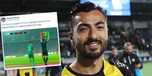 Jiloan Hamad debuterade för Iraks landslag.