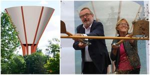 I augusti togs det första spadtaget för vattentornet, av bland annat Göran Nygren (M) och Märtha Dahlberg (S). Bygget har fortfarande inte kommit i gång på allvar.