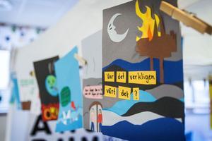 Under lördagens workshop fick deltagarna skapa sina egna miljöaffischer.