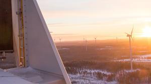 De 66 vindkraftverken utanför Jädraås uppges ge elström som räcker till cirka 100 000 hushåll.
