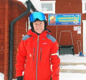 Sandra Näslund, världens bästa skicrossåkare, valde Landsomberget denna dag. Läsarbild.