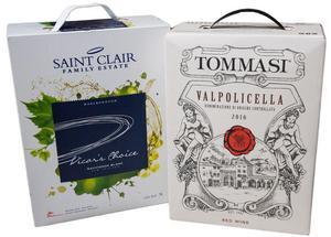 Två nya lådor av lite högre kvalitet. Det vita Saint Clair Vicar's Choice Sauvignon Blanc är ett klart fynd för sin stil och sitt pris. Väl prisvärt är även det röda rättframma valpolicellavinet  Tommasi Valpolicella som är ett passande vin till exempelvis tomatbaserade pastarätter.