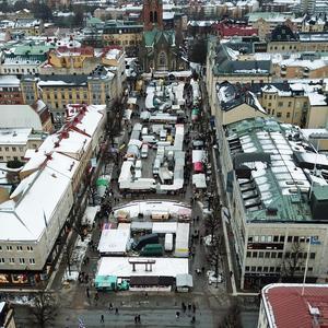 2018.Stortorget från andra hållet. Bild tagen från drönare.