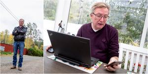 """Åke Wennlund har jobbat för att få fiber till byn sedan 2006. """"Nu känner jag att jag satsat min egen prestige med det här. Det känns ju frustrerande för oss också att det inte händer något."""""""