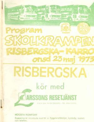 Programbladet inför den första historiska Krampen den 23 maj 1973.