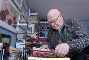 Gösta Karlsson. Bild tagen i samband med att han fyllde 75 år.