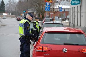Trafikkontroll på Storgatan
