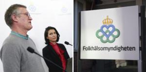 Anders Tegnell, Folkhälsomyndigheten och Taha Alexandersson, Socialstyrelsen.