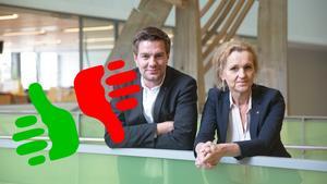 Elof Hansjons och Boel Godner gav 24 löften i valrörelsen 2014. 17 av dem har uppfyllts.