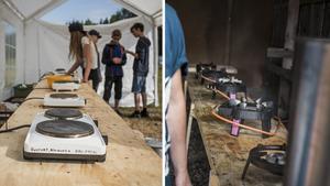 Ledarna har lyckats kringgå eldningsförbudet och hitta en lösning för hur matlagningen ska tillredas under Vildmarkslägret.