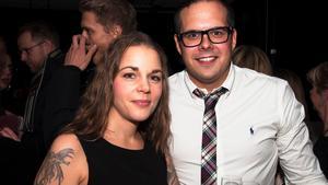 Jessica och Alexander på Brasseriet. Foto: Fabian Zeidlitz
