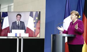 Tysklands förbundskansler Angela Merkel och Frankrikes president Emmanuel Macron har snabbt förändrat samtalet om EU:s framtid.