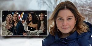 Alva Lindgren tävlar i den första deltävlingen av Melodifestivalen tillsammans med sitt band High15. Till våren släpper de även en EP med låtar som de varit med och skrivit själva. Bild: SVT/Ann Hagman