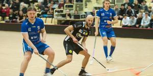 Oscar Karjalainen, IFK Arboga och  Jimmy Bladh, Köpings IS.