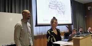 Makarna Joakim Hägerstrand och Johanna Hägerstrand Lindvall berättade  för kommunstyrelsen, tillsammans med sina partners Rise och AFRY, om sin vision.