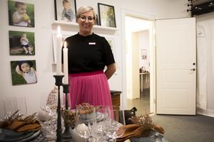 Madeleine Granér Persson från butiken Ombonat visade upp en höstinspirerad dukning.