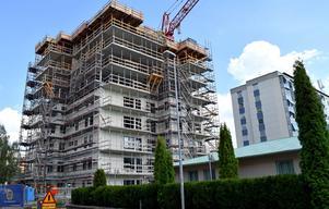 Här pågår bygget av 25 bostadsrätter.