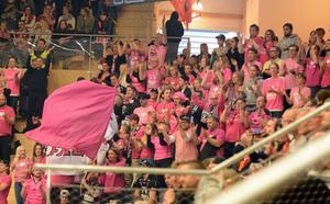 IBF Falun hade ett starkt stöd av tillresta supportrar.