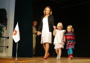 Anna Hjorth och döttrarna Lovis och Nike Edén lockade fram flest spontana applåder under kvällen.