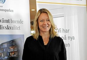 Katarina Hultqvist, Hultqvist fastigheter, hoppas på byggstart under 2017. Den första etappen omfattar 38 bostadsrätter.