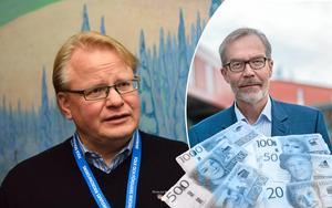 Försvarsminister Peter Hultkvist och Mikko Jokio, före detta platschef för Kvarnsvedens pappersbruk, är med på topplistan för lönerna i Borlänge.