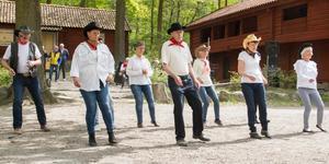 PRO har sin egen line dance grupp. De visade upp flera danser i olika tempon. Många njöt av uppträdandet.