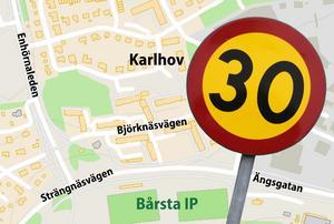 Dålig respekt för hastighetsgränsen, tycker insändarskribenten. Foto: TT Karta: LT-arkiv