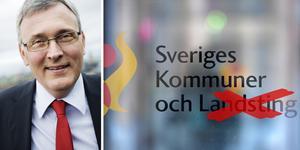 Namnet ändras från och med onsdagen till Sveriges kommuner och regioner. På bilden syns Anders Knape, ordförande för Sveriges kommuner och regioner. Foto: Stina Stjernkvist/TT