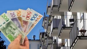 I Vansbro kommun får man minsta antal kvadratmeter bostadsrätt för en miljon kronor. Foto: Montage/TT