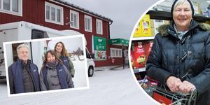 Länsstyrelsen begav sig under onsdagen i förra veckan till Åmot för att prata om kontanter och betaltjänster via nätet. I dag betalar dock de flesta med kort på Tempo-butiken på orten. Bilden är ett montage.