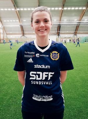 Sara Nimani har skrivit på för SDFF inför säsongen 2018. Bild: Privat.