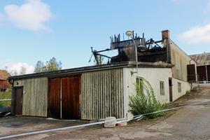 Så här såg bryggeribyggnaden ut efter branden.