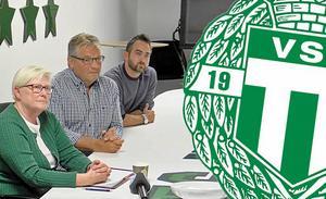 Christina Liffner (till vänster) berättar varför hon inte tänker fortsätta som ordförande för VSK Fotboll.