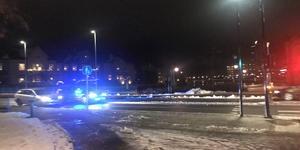 Polisen ryckte ut mot universitetet.