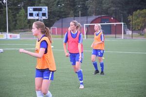 IFK Moras lagkapten Fanny Eriksson, mitten, hoppas att laget ska kunna klara sig kvar i trean i år och en dag kunna satsa på att kliva uppåt i seriesystemet.
