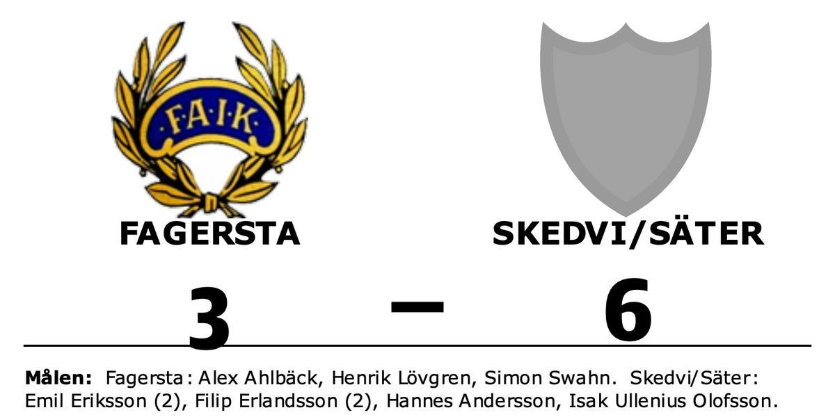 Skedvi/Säter vann borta mot Fagersta