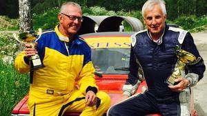 Ola Axelsson tillsammans med kartläsaren och sportprofilen Curt Lundmark.