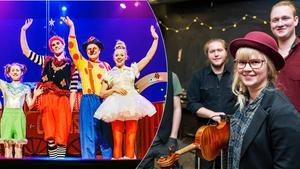 Cirkus Elvira och folkmusikgruppen Bjäran får 190 000 kronor. Bild: Lia Jacobi/Anki Haglund.