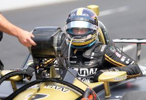 Marcus Ericsson i Schmidt Peterson Motorsports-bilen på fredagens tidsträning.