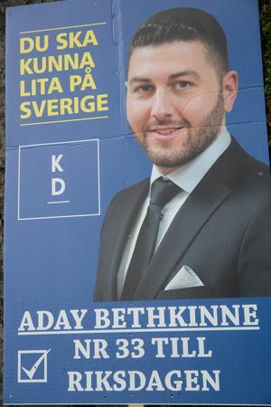 Aday Bethkinne står på plats 33 på KD:s riksdagslista. KD får, enligt det preliminära valresultatet, 23 mandat i riksdagen.
