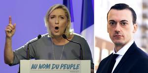 I dagsläget är det mer sannolikt att den högernationalistiska Marine Le Pen (bilden) konverterar till islam än att fransmännen röstar på en islamist. Foto: Claude Paris och Gabriel Liljevall.