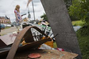 Från skrot till konst – under skaparverkstaden fick deltagarna använda sin fantasi.