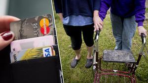 Den åtalade kvinnan ska ha köpt varor för över 300 000 kronor med de äldres kontokort. Foto: TT/Arkivbild