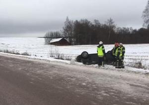 Larmet om olyckan kom vid klockan 12.17 på måndagen.