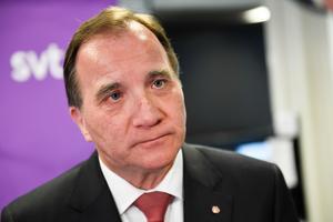 Statsminister Stefan Löfven (S) har stakat ut partiets nya gamla restriktiva flyktingpolitik. Foto: Pontus Lundahl/TT