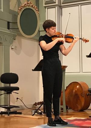 Linnea Hällqvist framträdde bland annat i Nocturne av Lili Boulanger.