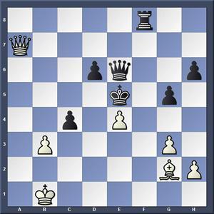 Lösning 1.Da1+ c4 2.Dxc4